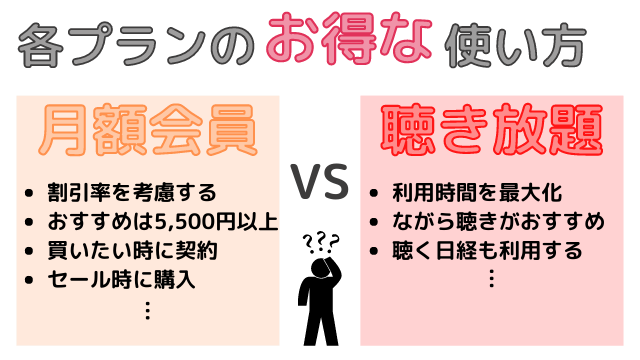 audiobook.jpのお得な活用方法